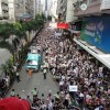 About 400,000 pro-democracy protesters took the streets of Hong Kong