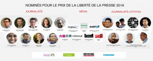 RSF unveils  22 nominees for 2016 Press Freedom Prize